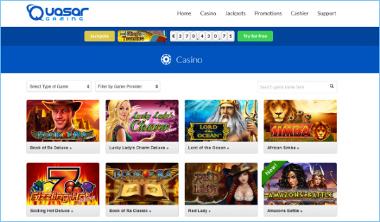 casino online test sizzling hot gratis